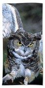 Owls Mascot 2 Beach Towel