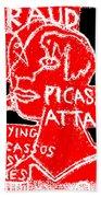 Pablo Picasso Attack 6 Beach Towel