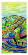 Painted Turtle Beach Towel