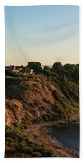 Palos Verdes Sundown Beach Towel by Michael Hope