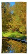 Palouse River Reflections Beach Towel