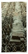 Panorama Of Pit 1, Terra Cotta Warriors Beach Towel