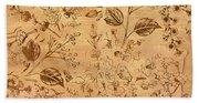Paper Petal Patterns Beach Towel