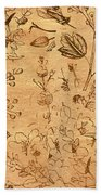 Paper Petal Patterns Beach Towel