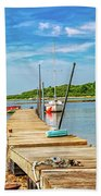 Paradise Sailing Day In Maine Beach Towel