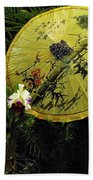 Parasol Among The Orchids Beach Towel