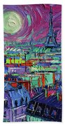 Paris By Moonlight Beach Towel