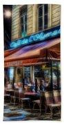 Paris Cafe Beach Towel