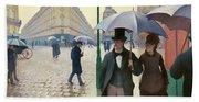 Paris Street In Rainy Weather - Digital Remastered Edition Beach Sheet