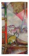 Paris Through The Window - Paris Par La Fenetre, 1913 Beach Towel