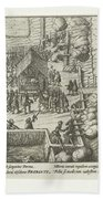 Parma Knighted In The Order Of The Golden Fleece, 1585, Anonymous, After Frans Hogenberg, 1613 - 161 Beach Towel