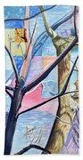 Patchwork Trees Beach Sheet