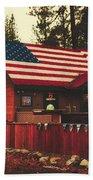 Patriotic Bar And Grill Beach Towel