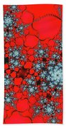 Pattern Synchro Red Beach Towel by Don Northup