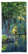 Peaceful Oasis - Japanese Garden Lake Beach Towel