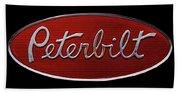 Peterbilt Emblem Black Beach Towel