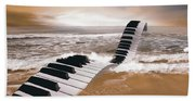 Piano Fantasy Beach Towel