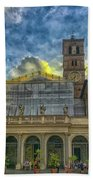 Piazza Di Santa Maria In Trastevere Beach Towel