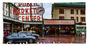 Pikes Place Public Market Center Seattle Washington Beach Towel