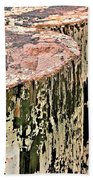 Pilings In Abstract Beach Towel