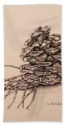 Pine Cone Beach Towel