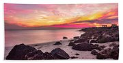 Pink Cloud Trails Beach Towel