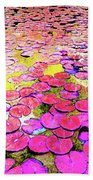 Pink Lily's Beach Towel