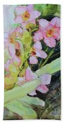 Pink Moth Orchids II Beach Towel
