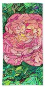 Pink Rose Beach Towel by James W Johnson