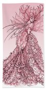 Pink Sussurus Beach Towel