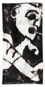 Pipe After Mikhail Larionov Black Oil Painting 4 Beach Towel