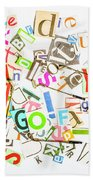 Play On Golf Words Beach Sheet