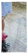 Playing In The Rain Beach Towel