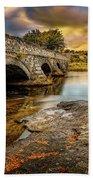 Pont Pen-y-llyn Bridge Snowdonia Beach Sheet