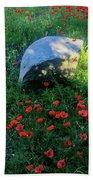 Poppies And Rocks Beach Sheet