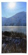 Portage Lake Alaska Beach Towel