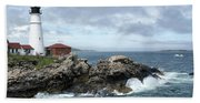 Portland Head Light House Beach Towel