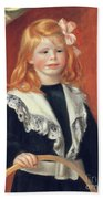 Portrait De Jean Renoir Beach Sheet