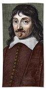 Portrait Of Descartes Beach Towel