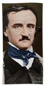 Portrait Of Edgar Allan Poe, Circa 1849 Beach Towel