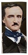 Portrait Of Edgar Allan Poe, Circa 1849 Beach Sheet