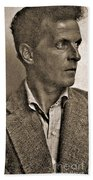 Portrait Of Ludwig Wittgenstein, 1947 Beach Towel