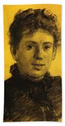 Portrait Of Tatyana Tolstaya Leo Tolstoy Daughter Beach Towel