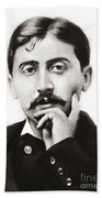 Portrait Of The French Author Marcel Proust Beach Towel