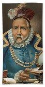 Portrait Of Tycho Brahe Beach Sheet
