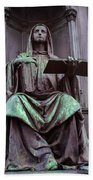 Prague Statue Beach Towel