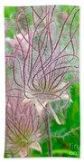Prairie Smoke Beach Towel by Ann E Robson