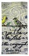 Praise Birds Beach Sheet