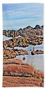 Prescott Arizona Watson Lake Rocks, Hills Water Sky Clouds 3122019 4870 Beach Towel
