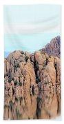 Prescott Arizona Watson Lake Water Mountains Lake Rocks Sky Reflections 4835 Beach Towel